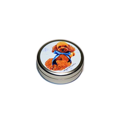 トリーツ缶:丸型【トイプー(ブルーリボン)】